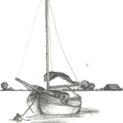Post Card 'At Anchor'