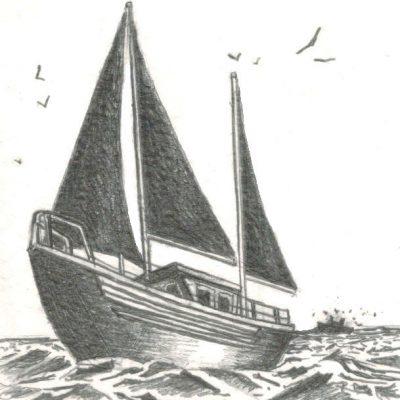 Post Card 'Gone, Fishin'