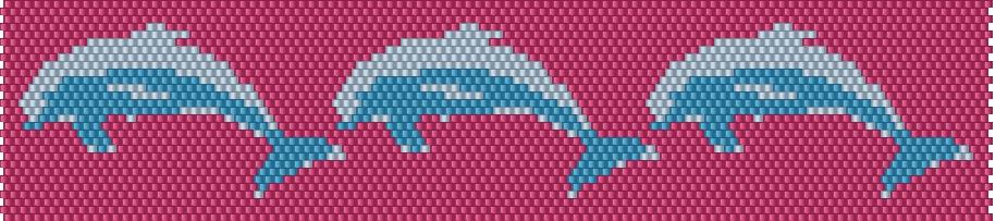 Dolphin Bracelet Beading Pattern