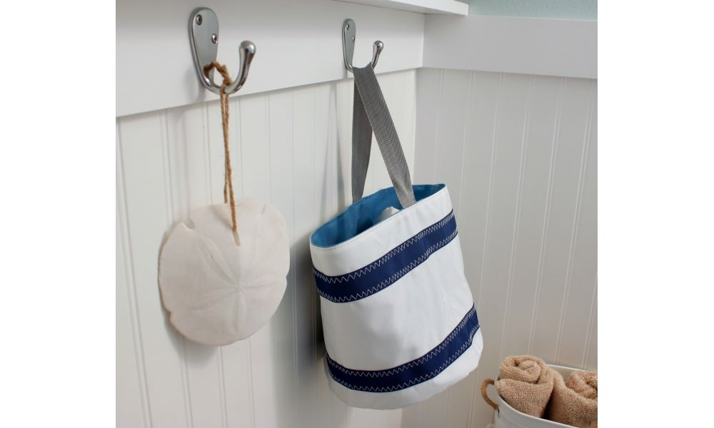 Nautical Stripes Bucket Bag Schooner Chandlery