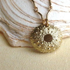 Sea Urchin Necklace in Brass