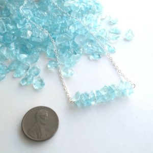 Ice Blue Crystal and Sterling Silver Necklace