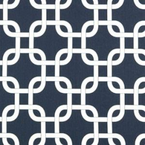 Floating Boat Curtains - Navy Gotcha Print  with Navy Tabs