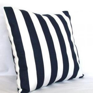 "Set of Two 16"" x 16"" Nautical Envelope Pillow Covers With Inserts"