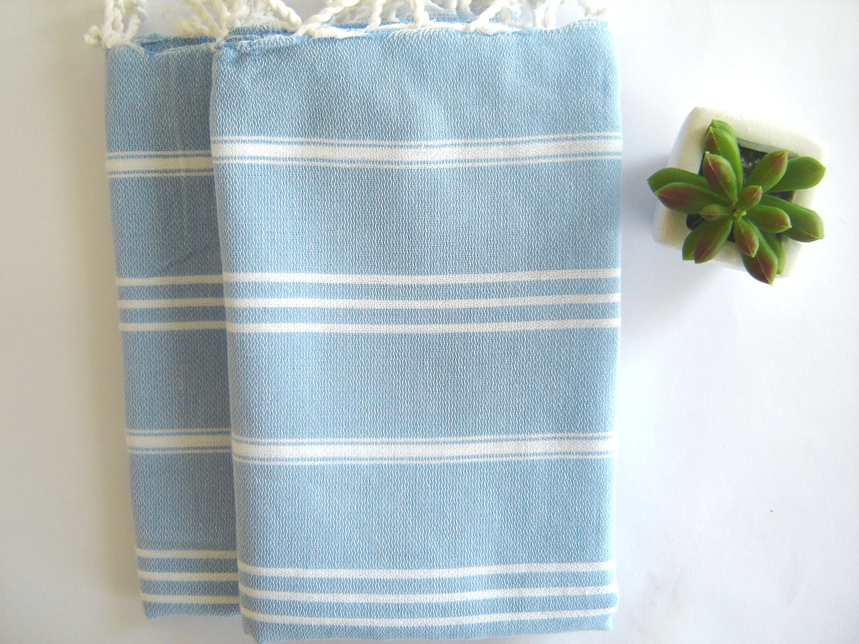 Set of 2 Turkish Hand Towel, Head Towel (Peshkir) | Schooner Chandlery