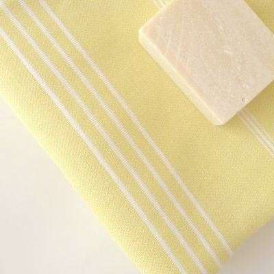 Classic Turkish Towel, Peshtemal, Natural Soft Cotton Bath, Spa,  Beach Towel, For Mother, Yellow