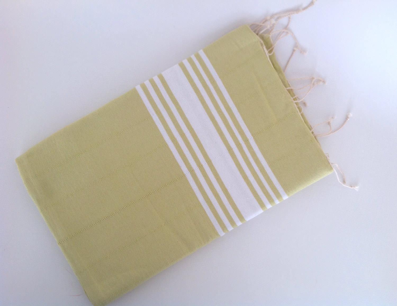 Turkish Towel And Head Towel Set Natural Peshtemal And