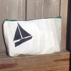 Recycled Sailcloth Makeup/Shaving Bag