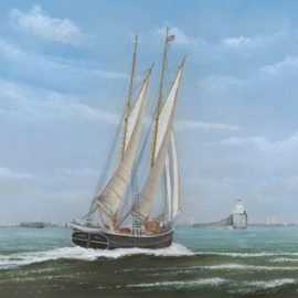 Painting donated to Blyth tall ship