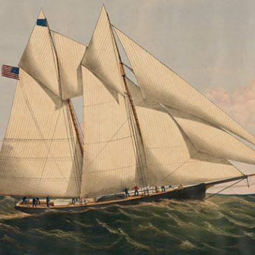 The first transatlantic yacht race