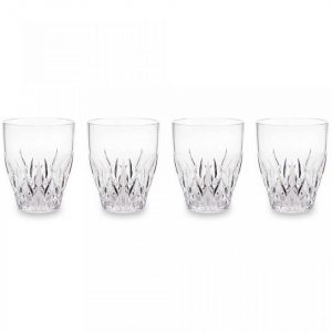 Q Squared NYC Aurora Crystal Clear S/4 Wine Glasses