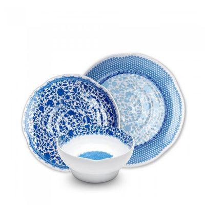 Q Squared NYC Heritage 12pc Melamine Dinnerware Set
