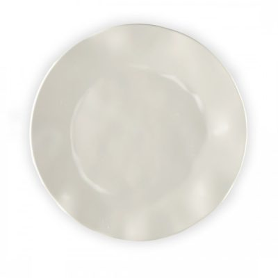 Q Squared NYC Ruffle in Linen Dinner Plate