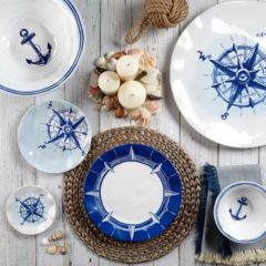 NAUTICAL & BEACHSIDE MELAMINE DINNERWARE