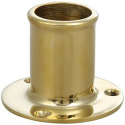 Davey & Company Flagstaff Flag Socket - Bronze, Straight