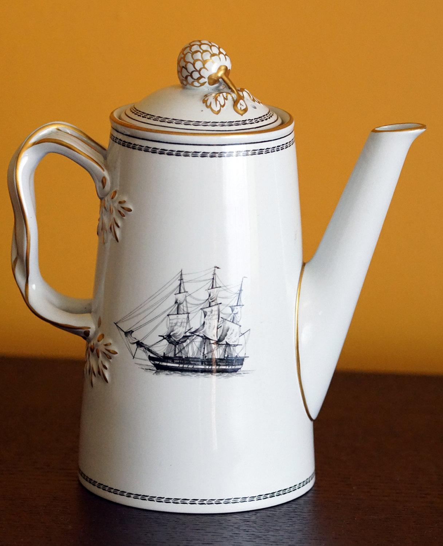 Copeland Spode Coffee Pot, Spode Copeland Trade Winds Black White ...
