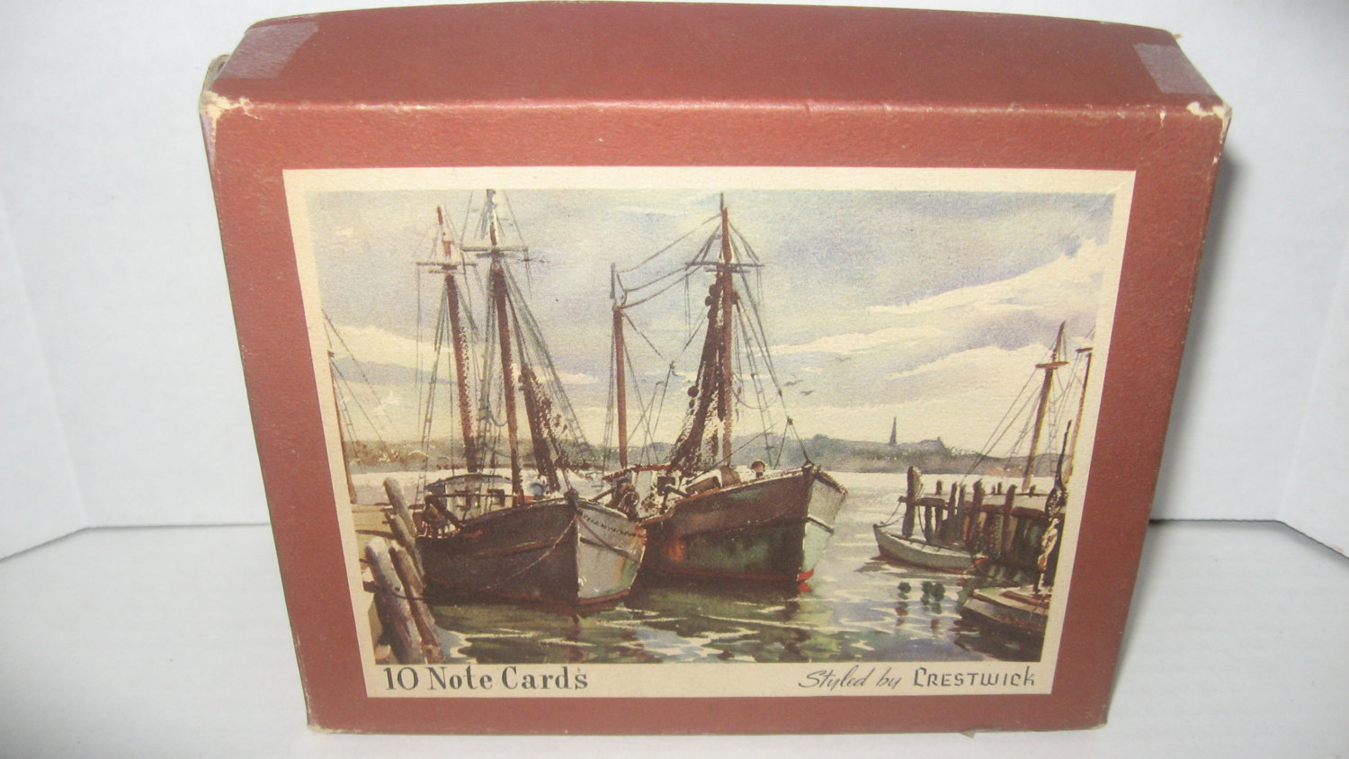 Boxed vintage greeting cards old ships docks piers crestwick boxed vintage greeting cards old ships docks piers crestwick creations complete m4hsunfo