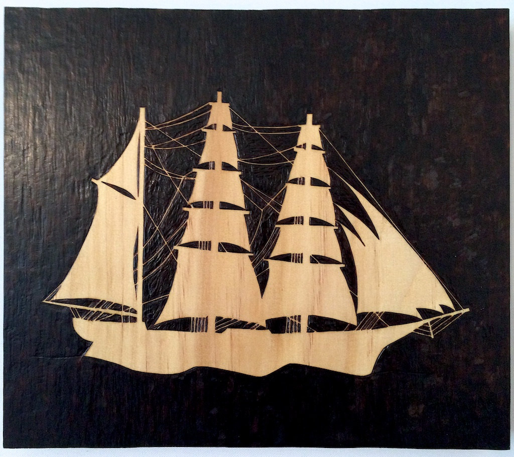Sailing ship art, Ship wall hanging, Ship silhouette, Schooner ship ...