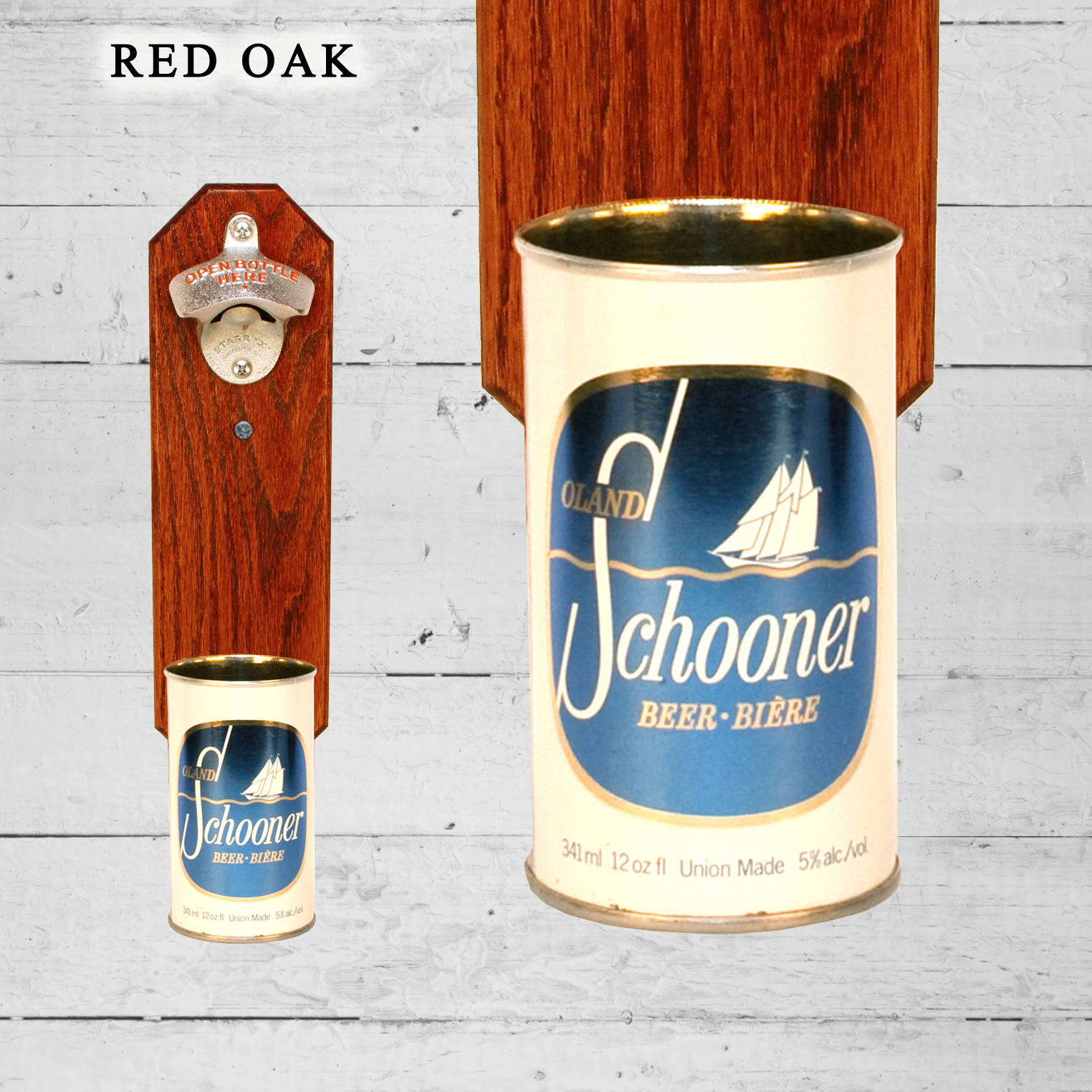 Oland Schooner Canada Wall Mounted Bottle Opener With
