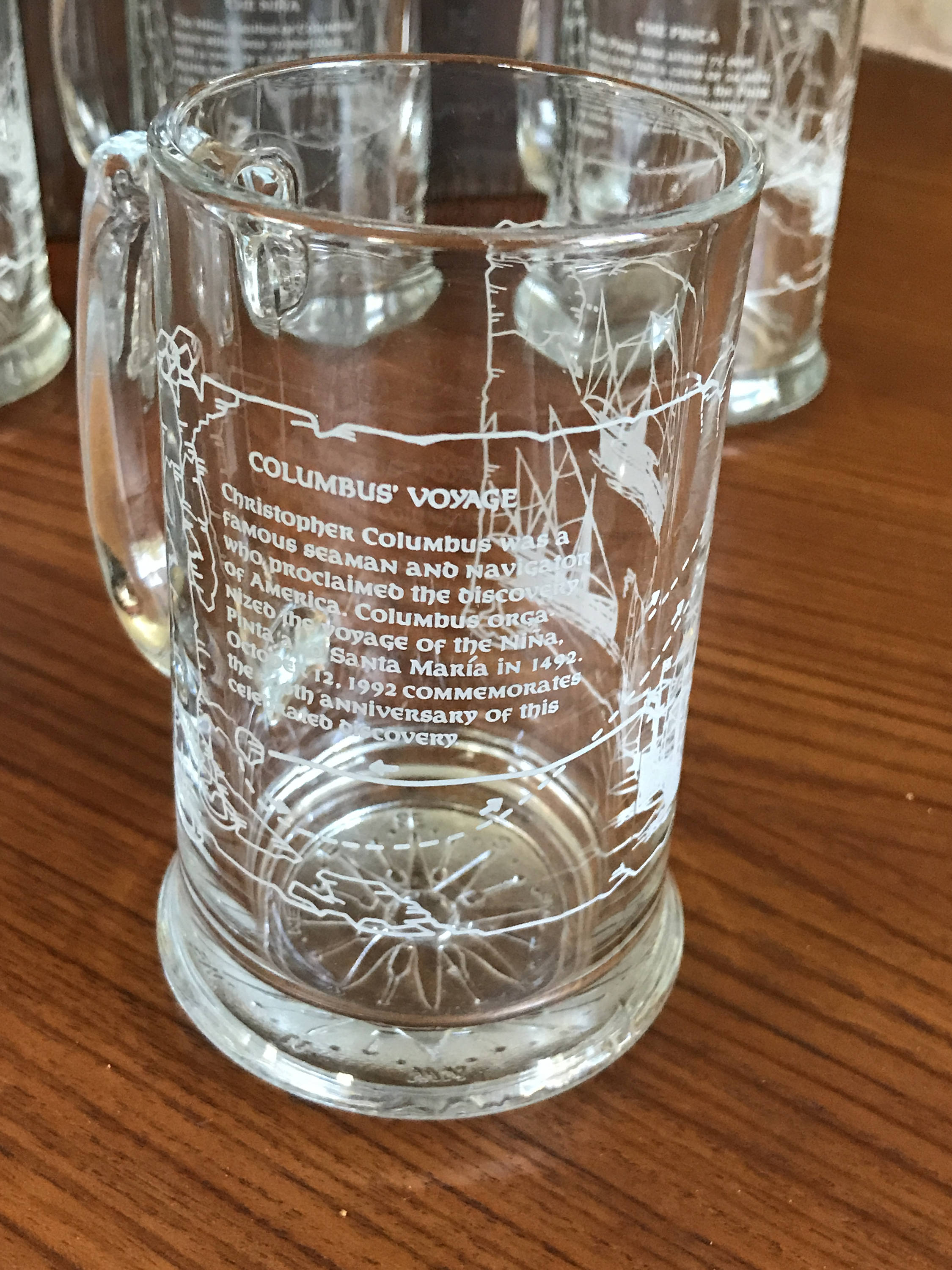 Collectible Glass Beer Tankards