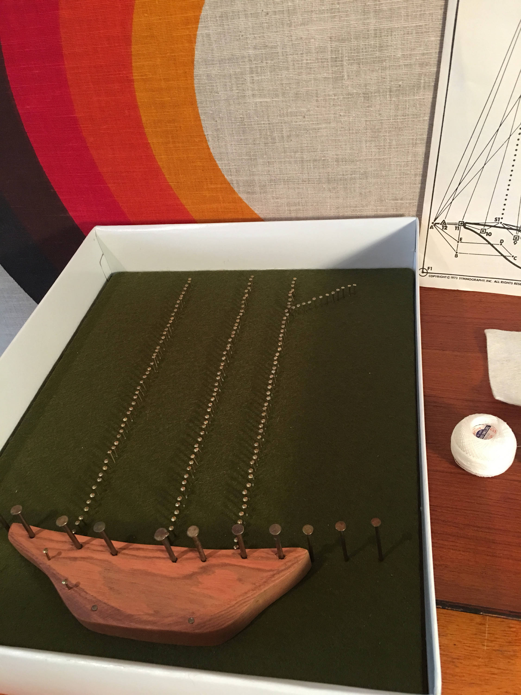 Vintage string art kit schooner ship symmography inc finish vintage string art kit schooner ship symmography inc finish yourself nautical string solutioingenieria Image collections