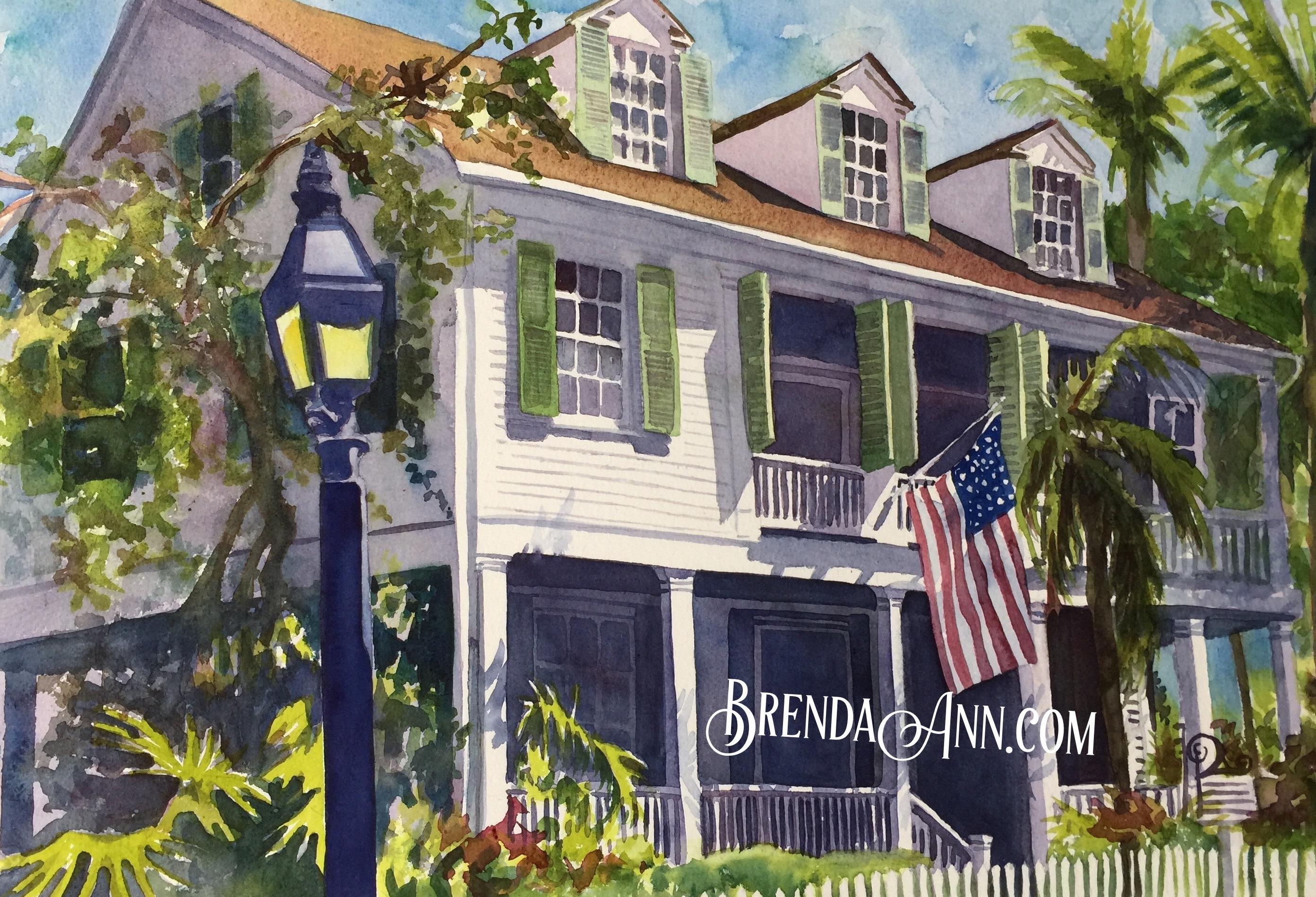 Key West Calendar 2019 2019 Key West Watercolor Wall Calendar by Brenda Ann   Custom