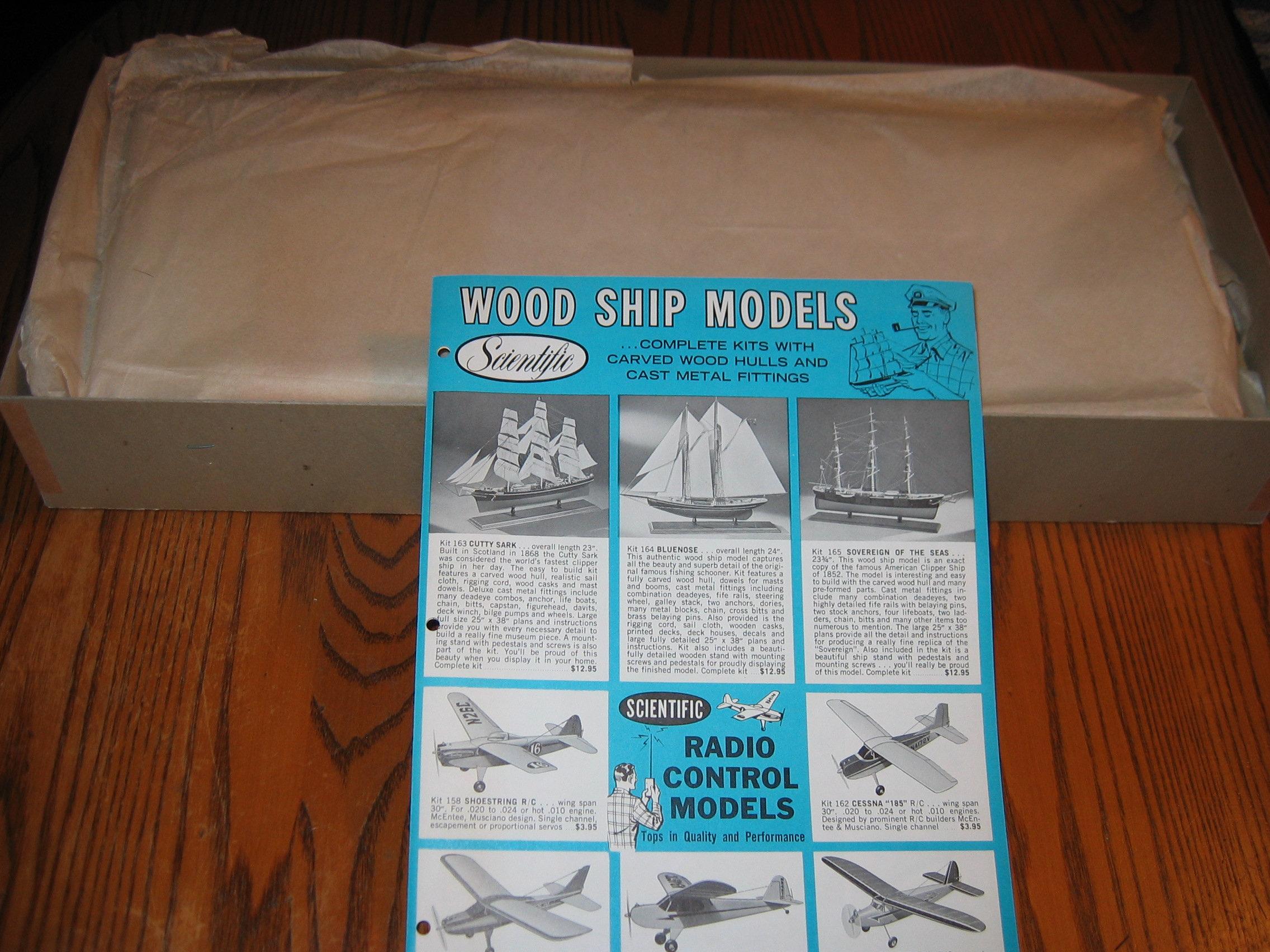 vintage wooden ship model kit schooner bluenose scientific model co.,  newark, nj, usa 1970s | schooner chandlery