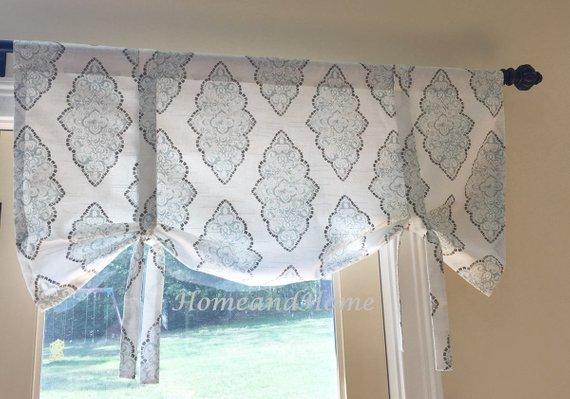Ordinaire Tie Up Curtain Schooner Nautical Valance. Blue White Valance. Beach House  Home Decor Kitchen